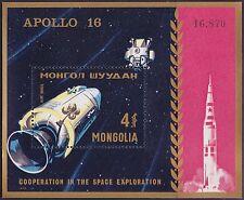 MONGOLIE BLOC N°27** Bf  Espace,TB, 1972 MONGOLIA C14 Space SHEET MNH