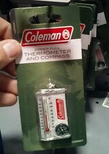 coleman zipper pull thermometer and compass hiking camping hunting outdoors tool