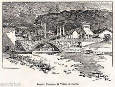Darfo Boario Terme: Corna: Ferriere di Voltri. Val Camonica. Stampa Antica. 1901