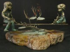 Vintage Malcolm Moran Bronze Sculpture - Children on Seesaw