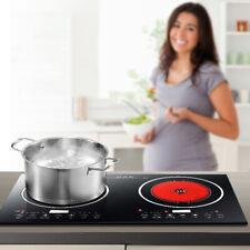 Electric 2400W Dual Digital Induction Hot Cooker Cooktop Countertop Burner 110V