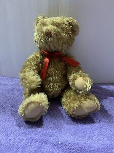 "Hallmark Teddy Tennial 100th  Anniversary 12"" Bear Gold Crown Plush Tag Jointed"