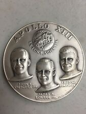 APOLLO 13  MEDALLIC ART SILVER 4.8  OZ MEDAL