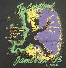I Survived JAMBOREE 1993 Boy Scout T Shirt - Large - BSA Camp in Virginia
