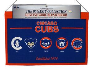 Chicago Baseball Cubs MLB 22x14 Logo Evolution Heritage Banner