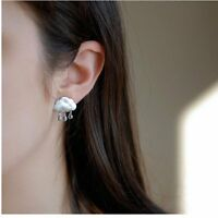 Fashion Cloud Raindrop Water Drop Crystal Ear Stud Earrings Women Jewellery Gift