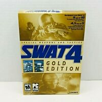 SWAT 4: Gold Edition CD-ROMs with Expansion Disc w/ Keys & TWO Game Guide Books