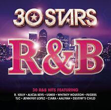 30 STARS R&B 2-CD NEW/UNPLAYED R.Kelly Whitney Houston Destiny's Child Fugees