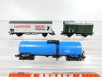CF757-0,5# 3x Märklin H0/AC Güterwagen etc DB NEM KK: Ganter + Aral etc sehr gut