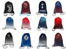 Official Football Club  (Drawstring)  Gym Bags   FREE (UK) P+P