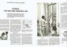 Publicité Advertising 088  1976   double vitrage isolant  Isobaie  (2 pages)