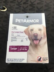 Pet Armor Flea Tick Prevention for Large Dogs (45-90lbs), 3 Applicators