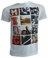 T-shirt Maglia Maniche Corte MERC London 100% Cotone Uomo Men Bianco White 17131