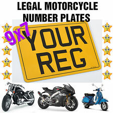 LEGAL MOTORCYCLE BIKE  REG NUMBER PLATE MOT Compliant * 4 FIXINGS INCLUDED*