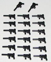 LEGO LOT OF 20 NEW BLACK TOMMY GUNS WITH MAGAZINE PISTOLS PARTS