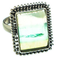 Green Fluorite 925 Sterling Silver Ring Size 9.25 Ana Co Jewelry R47521F
