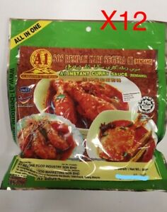 12 Pack A1 Mountain Globe Brand - Instant Curry Sauce (Rendang) 230gm