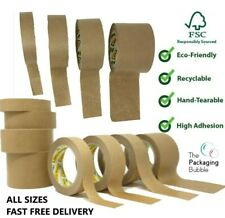 More details for brown kraft paper packaging parcel tape eco friendly biodegradable recyclable50m