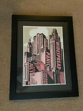 Widespread Panic Chicago 2010 Poster Framed S/N not Sperry Spusta