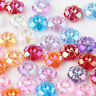 50/100PCS Colorful Plated Flower Mixed Loose Beads Jewelry Scrapbooking Findings