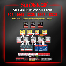 SanDisk SD Cards Extreme Pro Ultra 16, 32, 64, 128GB lot Class Retail Package