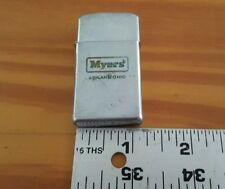 Vintage Zippo Lighter Myers Pumps and Plows Ashland Ohio Advertising