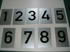 10x Nummer Zahl Nummerierung Hausnummer silber eloxiert 75 x 45 mm, 1-10