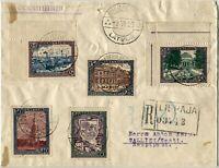 Latvia LEEPAJA to TALLINN Estonia #B24-B28 Postage Stamps Registered Cover 1925