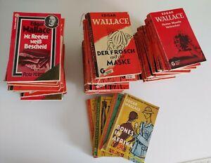 Konvolut 48 × Edgar Wallace Taschenbücher