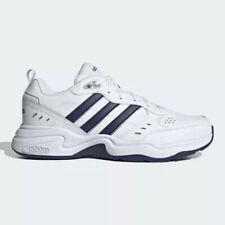 Adidas Strutter Men Athletic Sneaker White Navy Running Walking Shoe