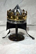 Medieval Reenactment King Arthur Helmet 18 gauge roman Wearable