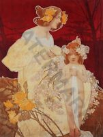 PAINTING PRIVAT-LIVEMONT 1900 EXPO PALACE OF WOMEN   POSTER ART PRINT HP3426