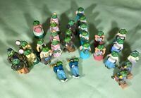 1991 JC COLONIAL FROG FIGURINES, lot of 29 for Fairy Gardens, miniatures, bonsai
