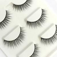 3 Pairs Natural Handmade Makeup Thick Cross Fake Eye Lashes False Eyelashes..