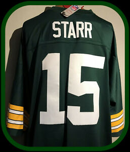 GREEN BAY PACKERS MITCHELL & NESS BART STARR THROWBACK JERSEY ADULT 5 XLARGE