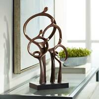 """Abstract Family 19 1/4"""" High Bronze Sculpture"""