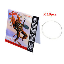 Alice A506SL-3 Steel Electric Guitar Strings Single Third 3rd String for 10Pcs