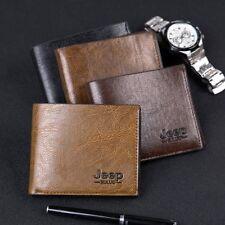 Men PU Leather Credit Card Holder Wallet Bifold ID Cash Coin Purse Clutch Bag