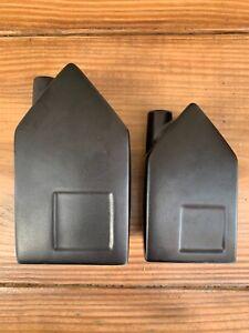 2 Magnolia Hearth & Home House Bud Vase Black Ceramic 1 Medium 1 Small