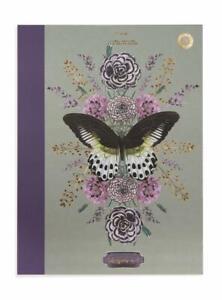 Papaya E8 Art Clothbound Lined 7x9in Journal Notebook - Butterfly Rare Species