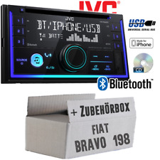 JVC Autoradio für Fiat Bravo 198 CD Bluetooth Android Apple USB Einbauset