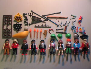 Playmobil VINTAGE Lot of 120+ PIRATES Playset Parts/Figures/Catalog/Instructions