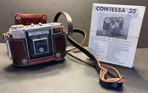 Vintage Zeiss Ikon Contessa Camera 35mm Leather Casewith Instructions