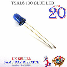 20x 940 Presque comme neuf Infrarouge Lampe DEL Bleu 5 mm IR haute puissance d'émetteur TSAL 6100
