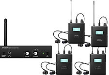 Anleon  Wireless In Ear stereo monitor system 863-865mhz with 4 Receivers