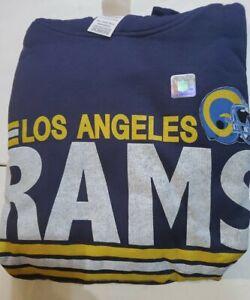 NFL Men's Los Angeles Rams  Pullover Fleece Hoodie by Junk Food Clothing 2XLarge