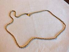 "Beautiful Necklace Choker Gold Tone Chain Signed NAPIER 24"" NICE"
