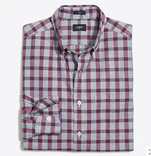NEW NWT J Crew Tall plaid washed shirt in end-on-end cotton XL F4987