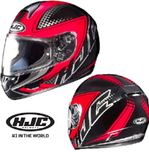 HJC MOTORCYCLE HELMET with ANTIFOG PINLOCK! XL NEW Red rrp$299 Fibreglass
