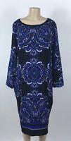 B30 Women's INC International Concepts Blue Shift Dress Plus Size 2X NEW